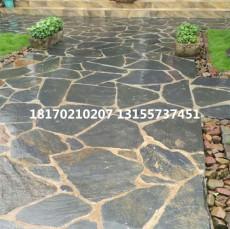 花园庭院地面怎样铺装 青石板碎拼石冰裂纹