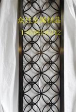 鋁板精雕鏤空花格屏風玫瑰金屏風
