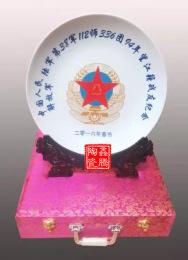 供应庆典礼品陶瓷盘10寸纪念盘批发