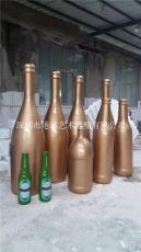 大型宣传装饰玻璃钢酒瓶雕塑公司
