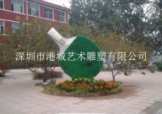 文化广场公园小区玻璃钢足球乒乓球雕塑
