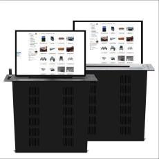 信息化會議超薄雙信號可自由切換升降器