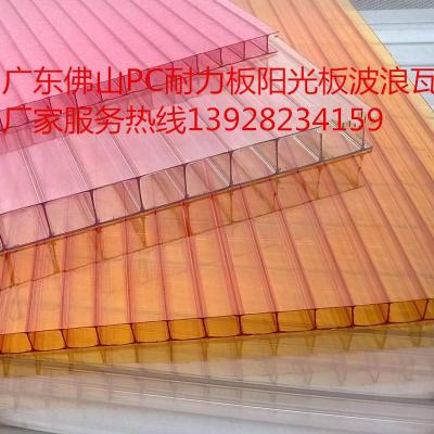 厂家直供郑州pc耐力板批发透明中空阳光板