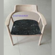 供應實木餐桌椅白茬實木美式廣島椅白茬
