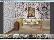 馬賽克瓷磚背景墻效果圖設計軟件