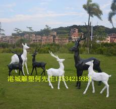 碧桂园小区形象玻璃钢抽象鹿雕塑装饰品