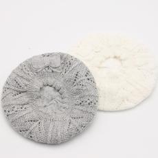宁波景余针织帽子围巾手套工厂针织贝雷帽
