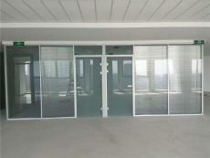 天津玻璃隔斷廠家雙層百葉玻璃隔斷
