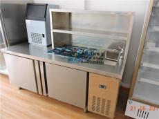 奶茶店操作臺不銹鋼奶茶柜立式工作臺保鮮柜