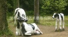 深圳出口新西兰玻璃钢奶牛雕塑价格
