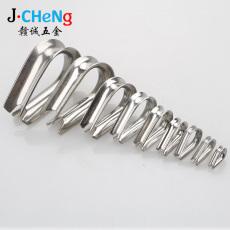 供应304不锈钢三角套环钢丝绳鸡心环M1.5-M2