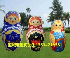 深圳幼儿园卡通玻璃钢俄罗斯套娃雕塑价格