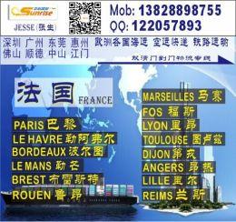 深圳到法國PARIS巴黎的國際海運物流公司