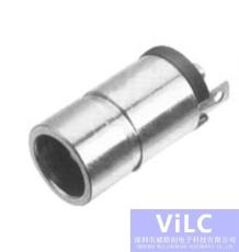圆柱体DC电源插座dc0083a-钢壳直插式DC插座