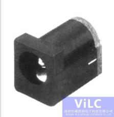 180度插件DC电源插座DC00120-方头面板