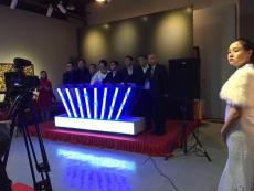 北京手印發光啟動臺手印亮燈啟動道具