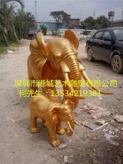 深圳出口香港风水招财玻璃钢大象雕塑价格
