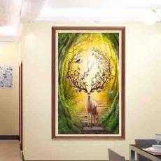 信合盛世钻石画纯手工的艺术画非常受欢迎
