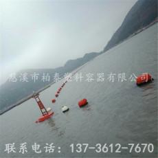 钢丝绳连接拦污排河道大距离浮桶