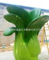 惠州小区仿真蔬菜玻璃钢上海青雕塑价格