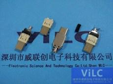 16.7mmTYPE-C公頭-沖壓馬口鐵焊線式3.1USB