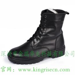 供應金瑞福KR8098Z牛皮保暖羊毛充電發熱鞋