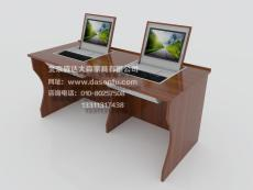 显示器翻转电脑桌多媒体培训桌机房电脑桌定