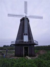 河南郑州户外荷兰风车田园风车公园旋转风车
