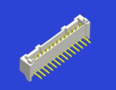 PAE 2.0MM间距 立贴2P 带扣 连接器插座