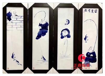 陶瓷大型瓷板画背景定做 家具镶嵌瓷板