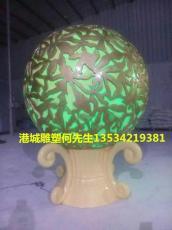 厂家直销定制玻璃钢透光发光圆球造型雕塑