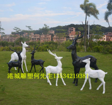 廠家直銷玻璃鋼抽象鹿雕塑裝飾品