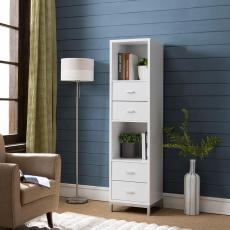 书柜书架简约现代 格子柜带门储物柜收纳柜