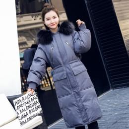 2018冬季新款韩版时尚加厚大毛领中长款羽绒