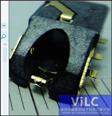 PJ-324/沉板1.4斜口耳机插座/圆弧手机专用