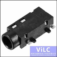 3.5mm耳机插座/PJK-327-5P沉板SMT-双声道