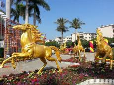 供应广场绿化装饰玻璃钢马雕塑公司