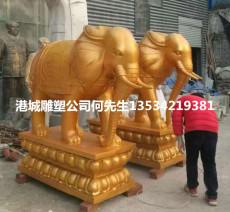 供应宗教庙宇玻璃钢大象雕塑公司