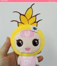 深圳毛絨玩具定制可愛玉米女孩企業吉祥物