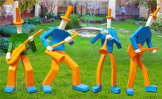 供應西式吹拉彈唱組合抽象人物雕塑價格