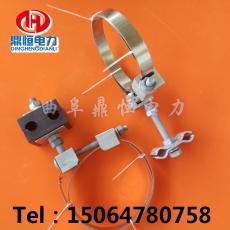 OPGW光缆用杆用引下线夹光缆引线金具图片