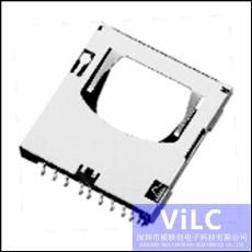 供应SD大卡座/SD-J46BF-高速读取-镀金触件