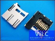 T-Flash自弹式卡座1.8H/内存卡识别槽-镀金