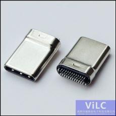 半拉伸露針式-24P夾板typeC公頭/TYPE-C公座