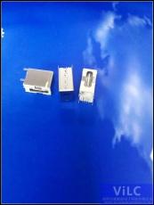 侧插大电流-短体TYPE-C母座LCP米黄胶芯
