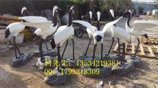 福田地產花園裝飾玻璃鋼仙鶴雕塑批發價格