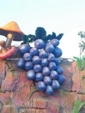 供应蔬菜瓜果基地装饰玻璃钢葡萄雕塑价格