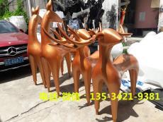現貨供應玻璃鋼抽象鹿雕塑公司