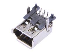 IEEE1394母座-firewire火线接口-6P插板90度