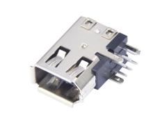 侧立-IEEE1394母座-6P侧插火线接口firewire